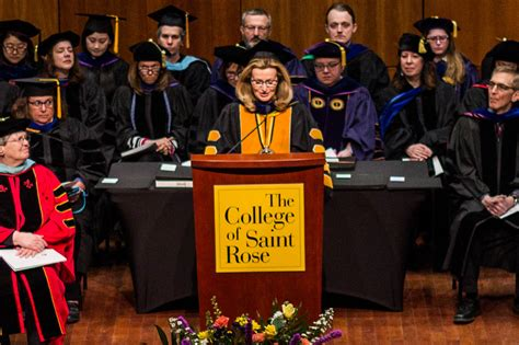 saint rose students honored academic achievement convocation