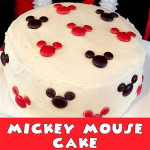 Mickey Mouse Cake - Two Sisters Crafting
