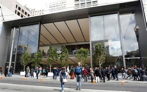 apple s new union square store in san francisco redefines retail spaces the indian express