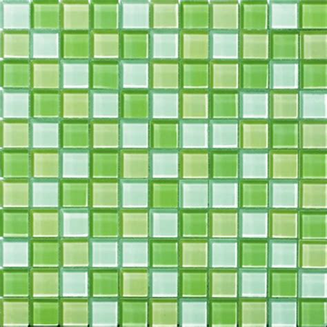 apple green kitchen tiles glossyapple green blend glass mosaic tile mesh backed sheet 4162