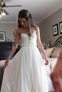 beach chiffon casual wedding dress simple strapless With simple casual wedding dresses