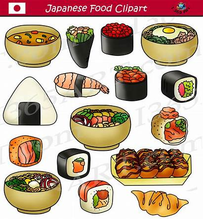 Clipart Japanese Sushi Japan Asian Commercial Graphics