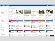 Announcement SharePoint home in Office 365 and team news