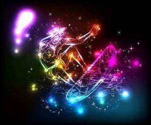 Colorful lights lines background vector Free vector in