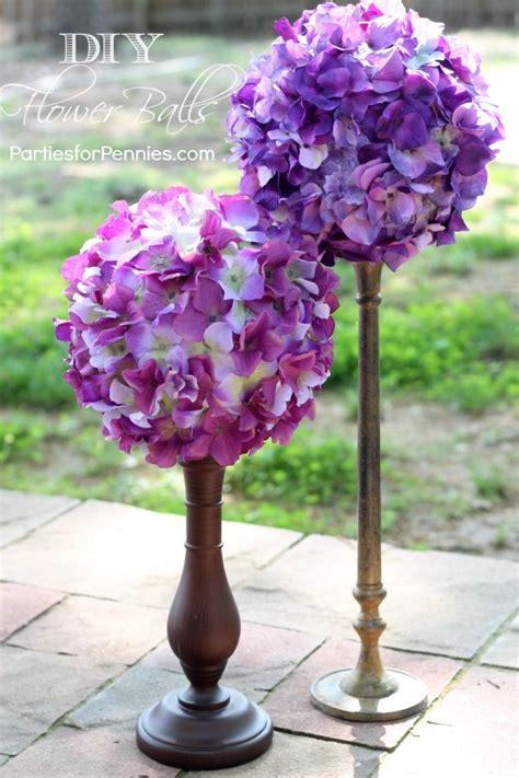 diy flower balls parties  pennies