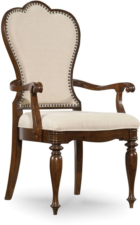 leesburg beige upholstered arm chair set of 2 from