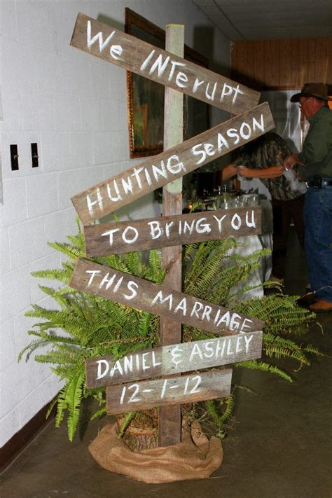 hunting camo themed rehearsal dinner  interrupt hunting