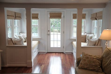 vestibule  window seats beach style entry