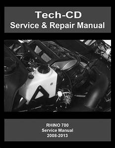 Yamaha Rhino 700 Service  U0026 Repair Manual Yxr700 2008 2009