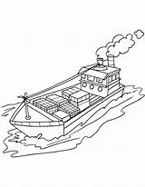 Coloring Ship Cargo Cruise Container Drawing Pages Printable Template Getcolorings Sketch Getdrawings sketch template