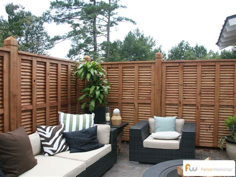 another angle of a beautiful custom wood privacy fence