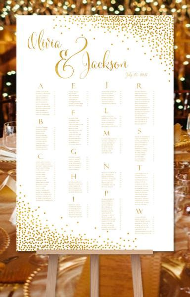 wedding seating chart poster reception table plan