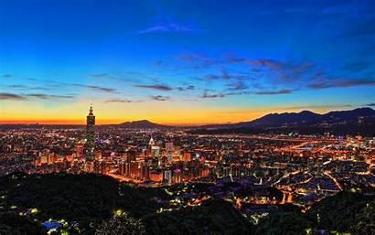 Taipei Taiwan Wallpapers Macbook Night Desktop Buildings