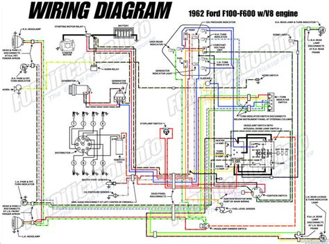 62 Chevy Headlight Switch Diagram Wiring Schematic by 1962 Ford Truck Wiring Diagrams Fordification Info The