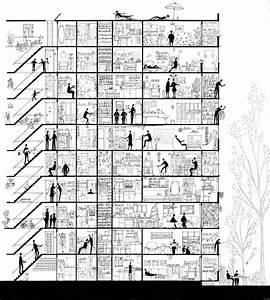 Life    Sectioned  A Section Drawing About An Apartment
