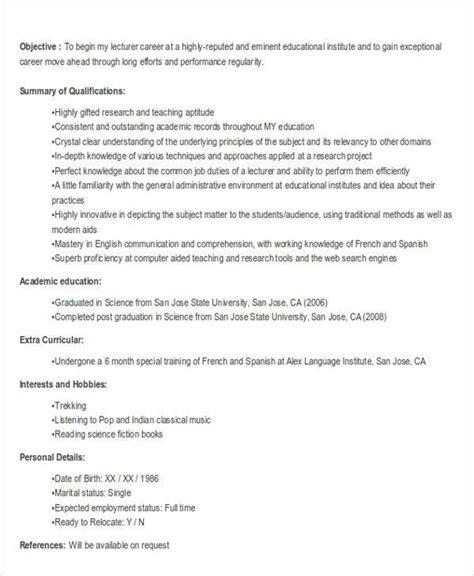 fresher resume templates    premium