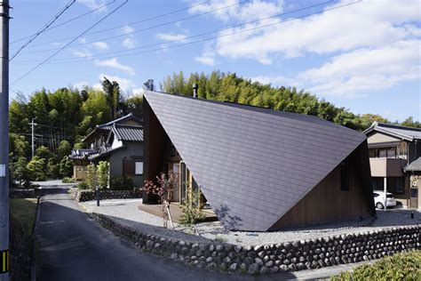 Interesting Japanese Home With An Origamiinspired Roof By