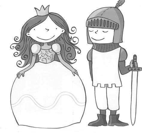 Kleurplaat Ridder En Jonkvrouw tekening ridder jonkvrouw prinsessen