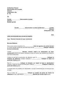 bail bureaux mod e lettre de notification de l 39 augmentation du loyer