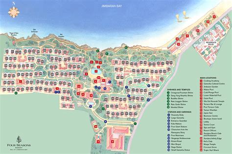 bali  jimbaran bay resort map  seasons resort bali