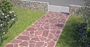 Polygonalplatten Auf Beton Verlegen : gartenweg anlegen einfahrt pflastern obi gartenplaner ~ Lizthompson.info Haus und Dekorationen