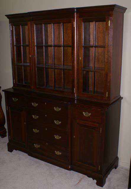 antique china cabinets solid mahogany two hutch by suters furniture