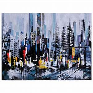 Metro heights oil painting rectangular canvas dcg stores for What kind of paint to use on kitchen cabinets for ready to hang canvas wall art
