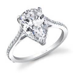 pear shaped halo engagement rings stunning pear shape engagement ring