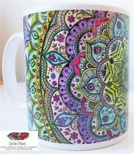 Intricate Floral Mandala Porcelain Mug | Mandala ...