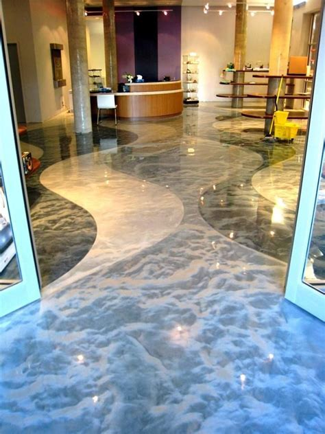 Amazing Decorative Concrete Floor Metallic Colored Epoxy