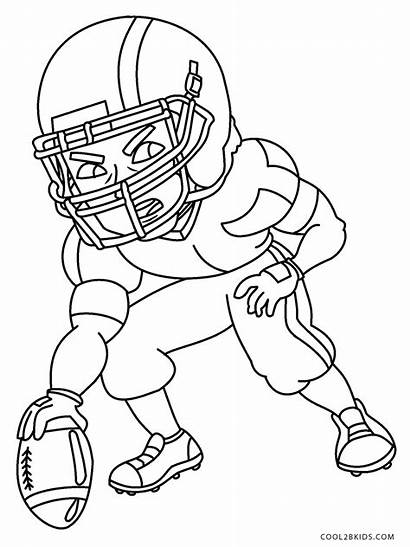 Coloring Football Pages Sheets Printable Player Excelent