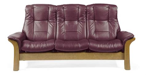 High Back Reclining Sofa by Stressless Stressless 1195030 High Back Reclining