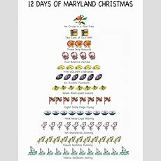Items Similar To 12 Days Of Maryland Christmas Cards On Etsy