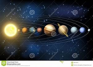 Planets Of The Solar System Stock Vector