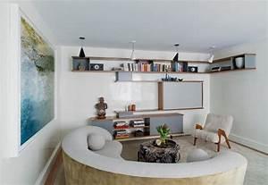canape demi lune et canape rond 55 designs spectaculaires With meubles de salon roche bobois 4 une deco zen dans le salon