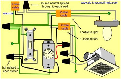 Wiring For Ceiling Exhaust Fan Light Electrical