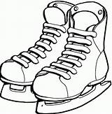 Coloring Ice Shoes Pages Skating Shoe Skate Hockey Clipart Drawing Ballet Cliparts Dance Skates Clip Sheets Winter Colouring Sports Printable sketch template