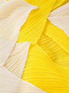 Lyst - Pleats Please Issey Miyake Pleated Scarf in Yellow