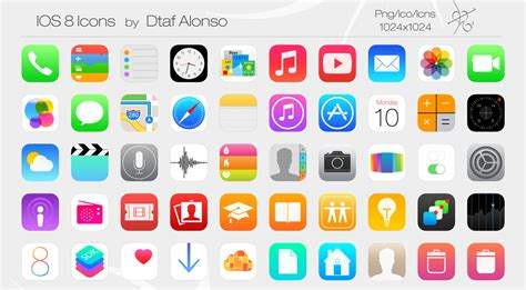 ios icon ios 8 icons by dtafalonso on deviantart