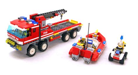 Lego Fire Truck And Boat by Off Road Fire Truck Fireboat Lego Set 7213 1