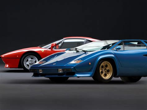 Vintage Versus Lamborghini Countach LP400S vs Ferrari