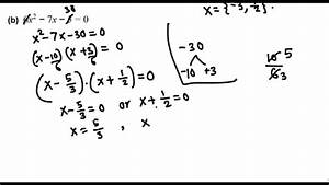 Solving  Difficult  Trinomials By Factoring  College Algebra