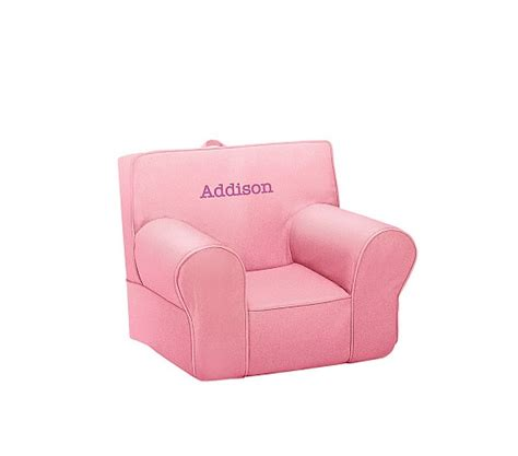 bright pink anywhere chair 174 pottery barn