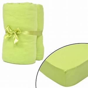 Linge De Lit 180x200 : vidaxl 2 draps housses vert pomme jersey de coton linge de ~ Teatrodelosmanantiales.com Idées de Décoration