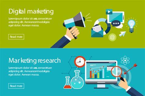 digital market banner digital marketing illustrations on creative market