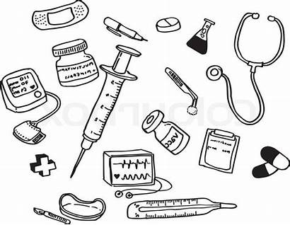 Doctor Tools Drawing Preschool Helpers Coloring Pages
