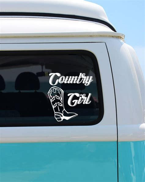 foto de Country Girl Vinyl Window Decal Car Sticker by