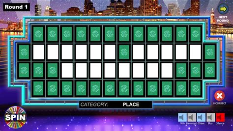 wheel  fortune powerpoint game youth downloadsyouth