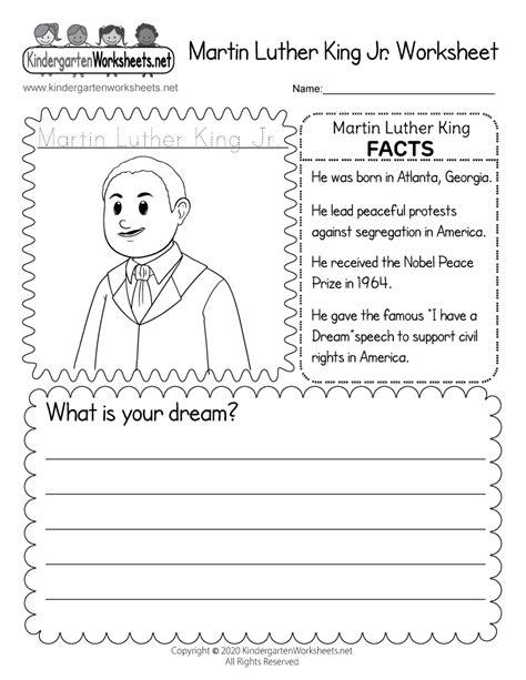 printable martin luther king jr coloring worksheet