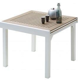 table de jardin carr 233 e extensible aluminium blanc et polywood l90